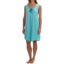 Lucky Brand Knit-Trim Nightgown - Sleeveless (For Women) in Light Aqua - Overstock