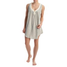 Lucky Brand Lace-Trimmed Chemise - Sleeveless (For Women) in Grey Heather - Closeouts
