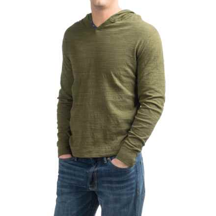 Lucky Brand Lived In Hoodley Henley Shirt - Cotton, Long Sleeve (For Men) in Ivy Green - Closeouts