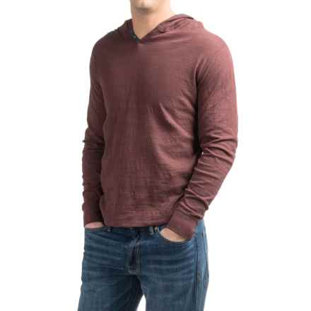 Lucky Brand Lived In Hoodley Henley Shirt - Cotton, Long Sleeve (For Men) in Sassafrass - Closeouts