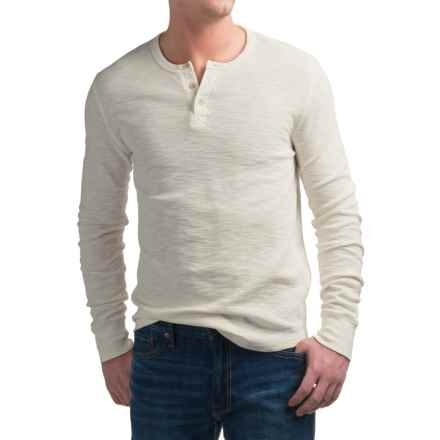 Lucky Brand Lived-In Thermal Henley Shirt - Long Sleeve (For Men) in Marshmallow - Closeouts