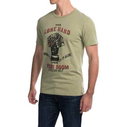 Lucky Brand Lone Hand Graphic T-Shirt - Short Sleeve (For Men) in Oil Green - Closeouts