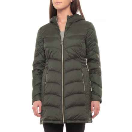 Lucky Brand Long Down Jacket (For Women) in Teal - Closeouts