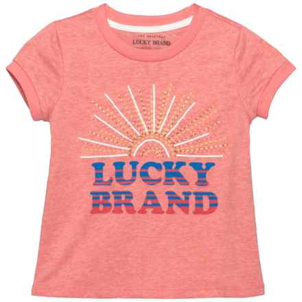 Lucky Brand Maisie Sun T-Shirt - Short Sleeve (For Little Girls) in Shell Pink - Closeouts