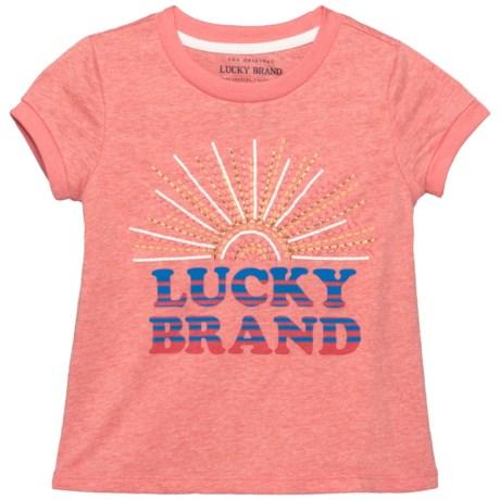 Lucky Brand Maisie Sun T-Shirt - Short Sleeve (For Little Girls) in Shell Pink