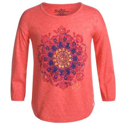 Lucky Brand Mandala T-Shirt - Long Sleeve (For Little Girls) in Dubarry - Closeouts