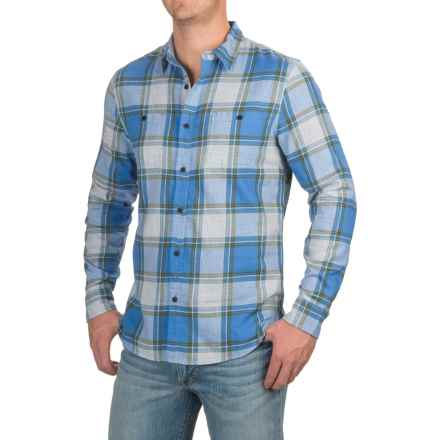 Lucky Brand Mason Workwear Shirt - Long Sleeve (For Men) in Blue/Green Plaid - Closeouts