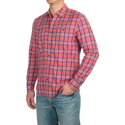 Lucky Brand Mason Workwear Shirt - Long Sleeve (For Men) in Red/Blue Plaid - Closeouts