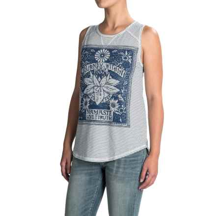 Lucky Brand Matchbox Tank Top (For Women) in Blue Multi - Closeouts