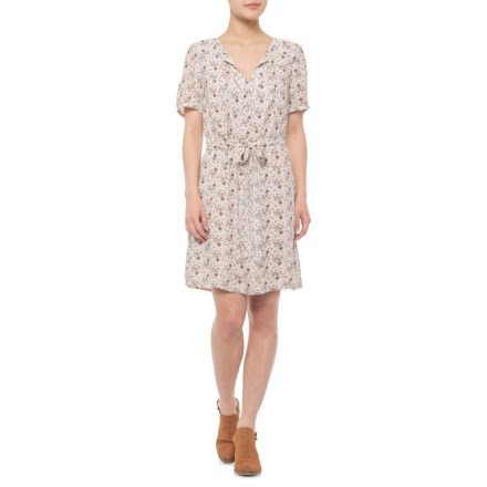 4aa8c3db9c4 Lucky Brand Multi-Natural Printed Tie Dress - Short Sleeve (For Women) in
