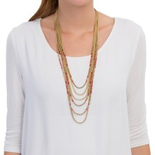 Lucky Brand Multi-Strand Necklace (For Women) in Gold - Closeouts
