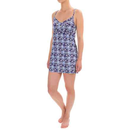 Lucky Brand Nightshirt - Racerback, Sleeveless (For Women) in Indigo Floral - Closeouts