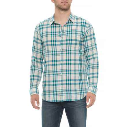 Lucky Brand One Pocket Shirt - Long Sleeve (For Men) in Teal/Natural - Closeouts