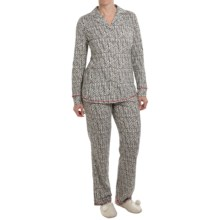 Lucky Brand Pajamas - Long Sleeve (For Women) in Black Print - Closeouts