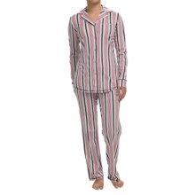 Lucky Brand Pajamas - Long Sleeve (For Women) in Red Stripe - Closeouts