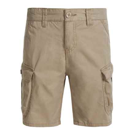 Lucky Brand Pham Cargo Shorts (For Big Boys) in Chinchilla - Closeouts