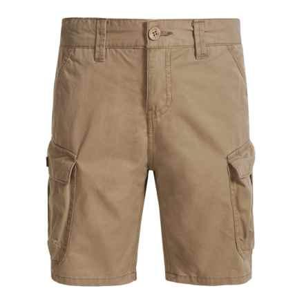 Lucky Brand Pham Cargo Shorts (For Big Boys) in Light Khaki - Closeouts
