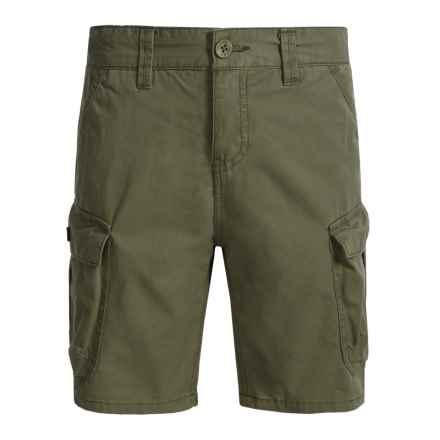 Lucky Brand Pham Cargo Shorts (For Big Boys) in Olive Night - Closeouts
