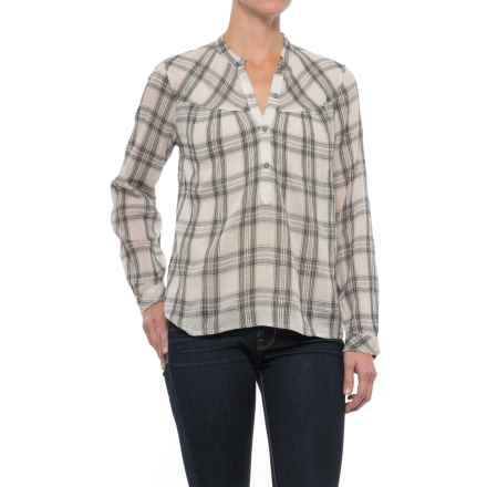 Lucky Brand Plaid Voile Shirt - Long Sleeve (For Women) in Pink Multi - Closeouts