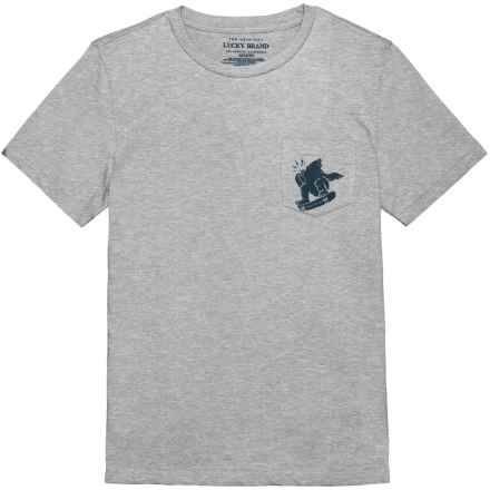 Lucky Brand Pocket T-Shirt - Short Sleeve (For Little Boys) in Grey Heather - Closeouts