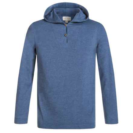 Lucky Brand Popover Henley Hoodie (For Big Boys) in Estonia Blue - Closeouts