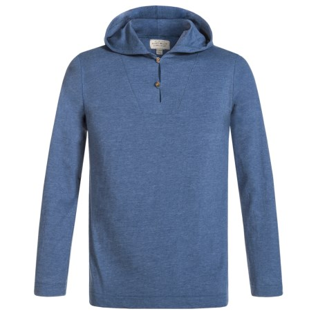 Lucky Brand Popover Henley Hoodie (For Big Boys) in Estonia Blue