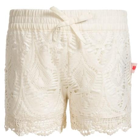Lucky Brand Pull-On Crochet Shorts (For Little Girls) in Vanilla Ice
