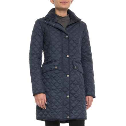 Lucky Brand Quilted Jacket With High Collar (For Women) in Navy - Closeouts
