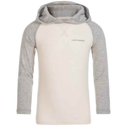 Lucky Brand Raglan Hoodie - Cotton (For Little Boys) in Birch - Closeouts