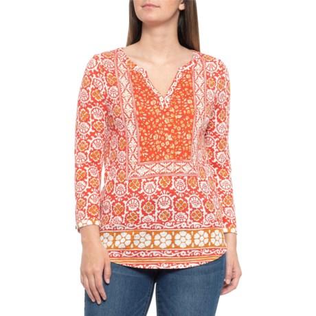 ce7013e7dc Lucky Brand Red Ochre Block Floral Shirt - Long Sleeve (For Women)