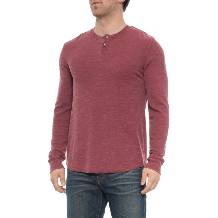 65908a8585 Lucky Brand Red Pear Venice Burnout Thermal Henley Shirt - Long Sleeve (For  Men)