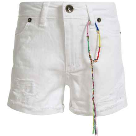 Lucky Brand Riley Rip and Repair Denim Shorts (For Little Girls) in Bright White - Closeouts