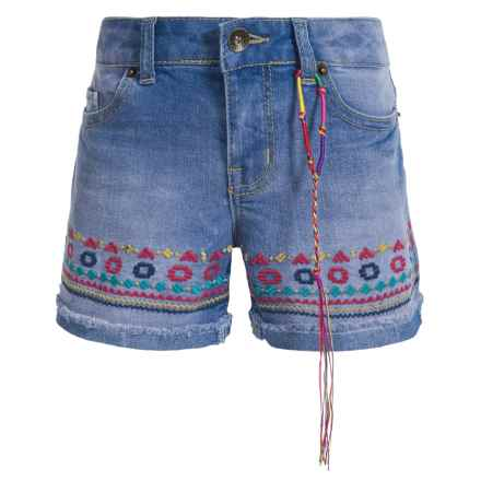 Lucky Brand Riley Shorts (For Big Girls) in Vista Blue - Closeouts