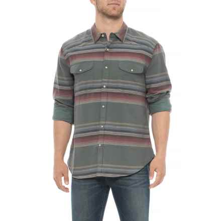 Lucky Brand Santa Cruz Western Shirt - Snap Front, Long Sleeve (For Men) in Multi Stripe - Closeouts