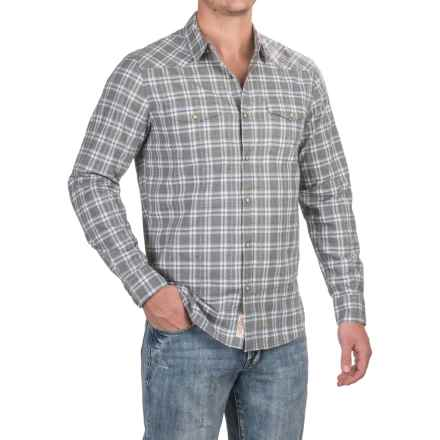 Lucky Brand Santa Fe Western Shirt - Snap Front, Long Sleeve (For Men) in Heathr Grey/White - Closeouts