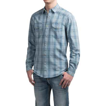 Lucky Brand Santa Fe Western Shirt - Snap Front, Long Sleeve (For Men) in Indigo Dobby - Closeouts