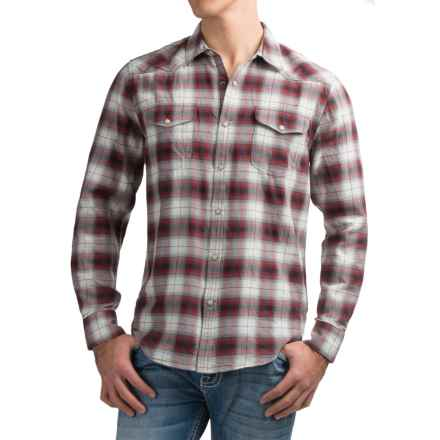 Lucky Brand Santa Fe Western Shirt - Snap Front, Long Sleeve (For Men) in Natural/Red Ombre - Closeouts