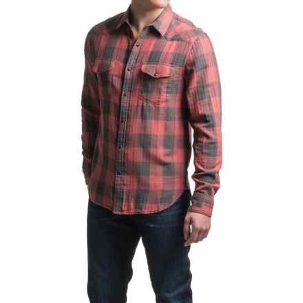 Lucky Brand Santa Fe Western Shirt - Snap Front, Long Sleeve (For Men) in Red/Grey Buffalo Check - Closeouts