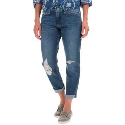 Lucky Brand Sienna Boyfriend Jeans - Mid Rise, Slim Fit, Straight Leg (For Women) in Alamo Heights - Closeouts