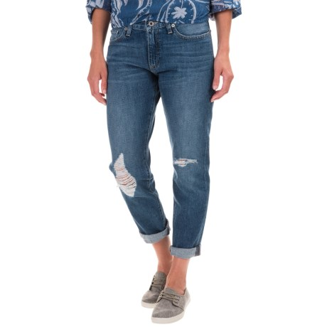 Lucky Brand Sienna Boyfriend Jeans - Mid Rise, Slim Fit, Straight Leg (For Women) in Alamo Heights
