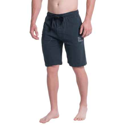 Lucky Brand Slub Jersey Lounge Shorts (For Men) in Dark Sapphire - Closeouts