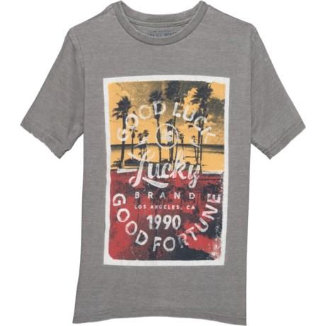 ea4a7b4dd Lucky Brand Steel Grey Graphic T-Shirt - Short Sleeve (For Big Boys)