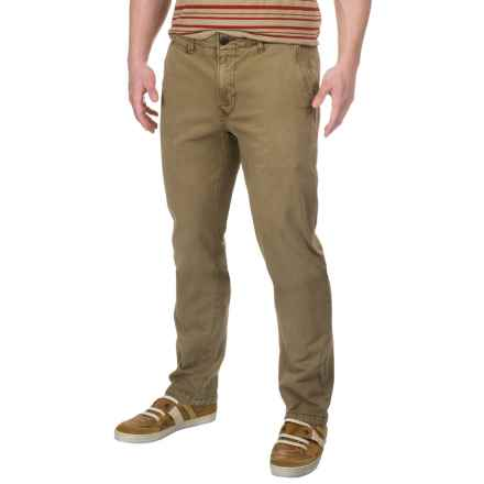 Lucky Brand Stretch Cotton Chino Pants (For Men) in Kangaroo - Closeouts