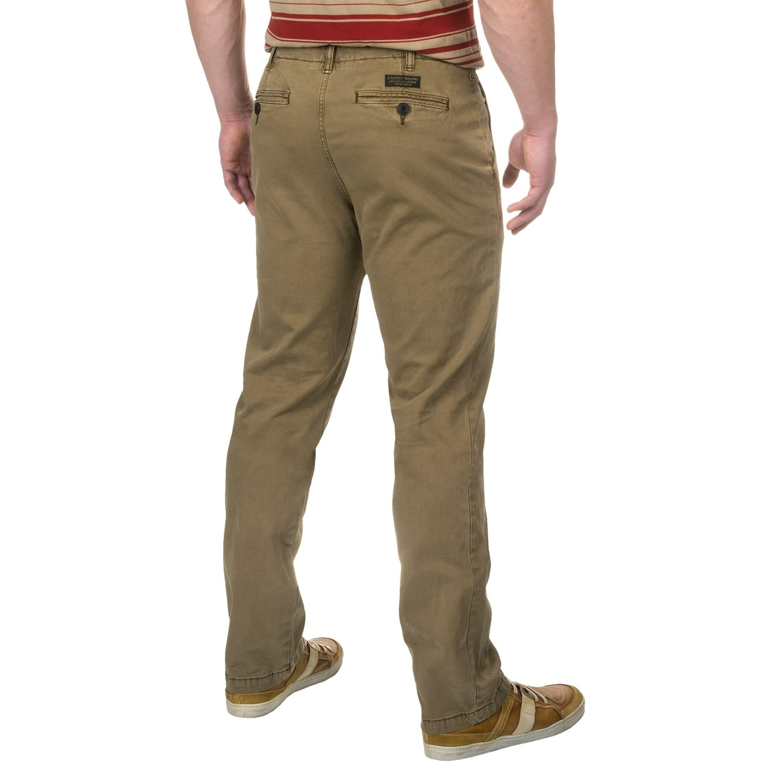 Style - Chino Casual Pants. Colors - Light Khaki Beige. Occasion - Casual. We have a large selection of clothing, shoes, belts and handbags. With over of the most desirable labels in our inventory, you're bound to find lots of rare and hard to find pieces as well as common necessities.