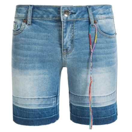 Lucky Brand Stretch Jean Shorts (For Big Girls) in Blue Grass - Closeouts