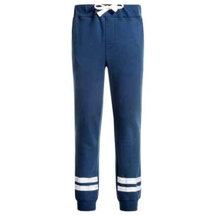 Lucky Brand Stripe Knit Joggers (For Big Boys) in Dark Denim - Closeouts