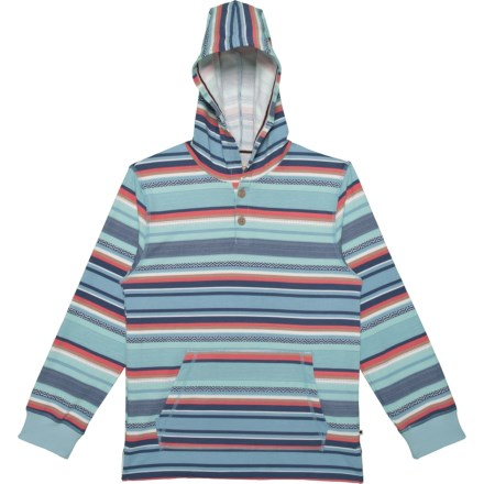6b0bb32ce9f4e Lucky Brand Striped French Terry Pullover Hoodie (For Big Boys) in Cerulean  - Closeouts