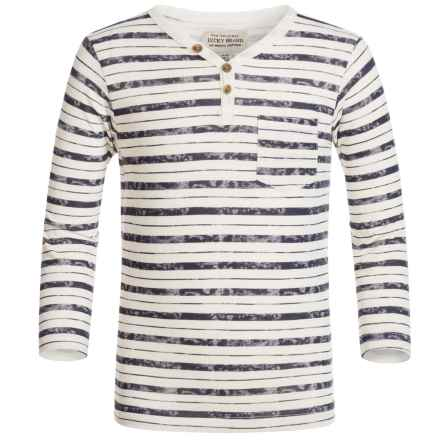Lucky Brand Striped Pocket Shirt - Long Sleeve (For Little Boys) in Birch - Closeouts