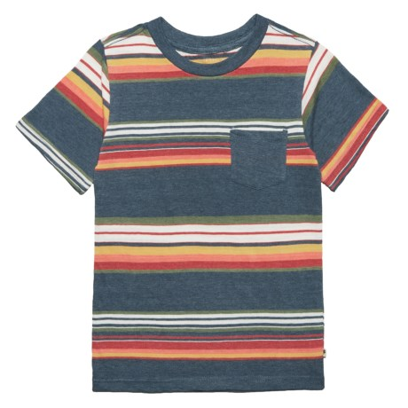 Lucky Brand Striped T-Shirt - Short Sleeve (For Little Boys) in Indigo Blue