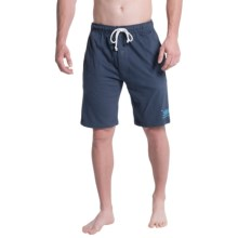 Lucky Brand Sueded Knit Lounge Shorts (For Men) in Mood Indigo - Closeouts